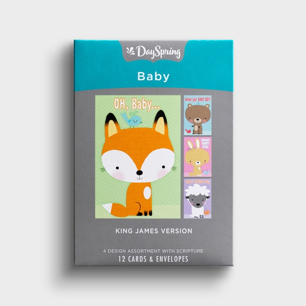 These Dayspring cards with sweet baby animals are a great way to congratulate a new parent.