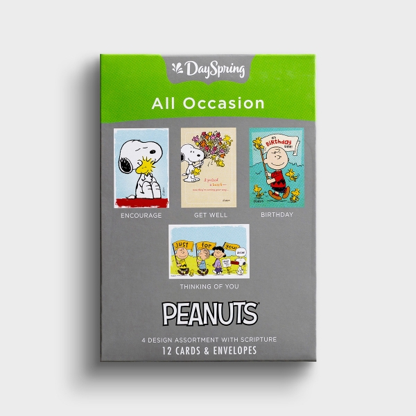 Peanuts - All Occasion - 12 Boxed Cards
