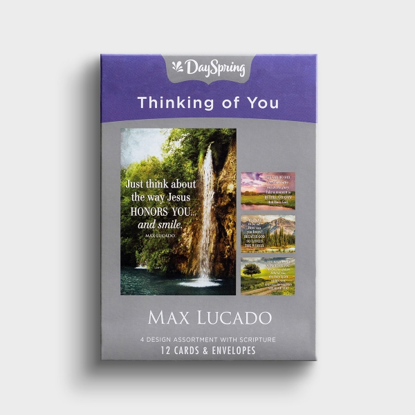 Max Lucado - Thinking of You - Let God Be God - 12 Boxed Cards