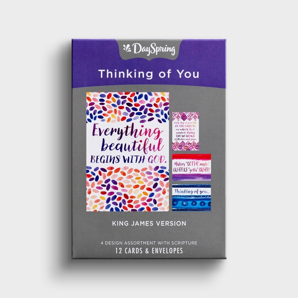 These colorfully painted Dayspring 'Thinking of You' cards with encouraging messages are a wonderful way to show someone that they are on your mind.