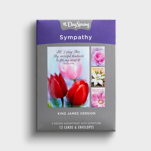 The soft floral paintings and messages of hope in these Christian sympathy cards are perfect for encouraging someone who is grieving the loss of a loved one.