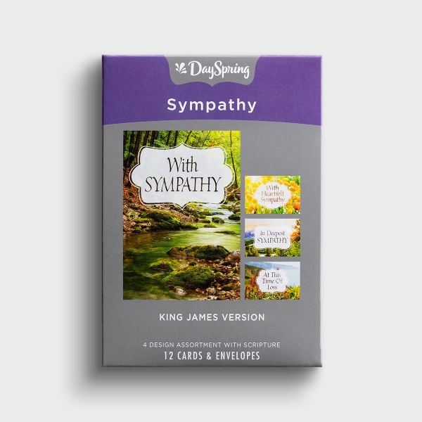 The beautiful scenes, thoughtful messages and and KJV verses included in these Christian sympathy cards are the perfect comfort for someone going through a difficult loss.