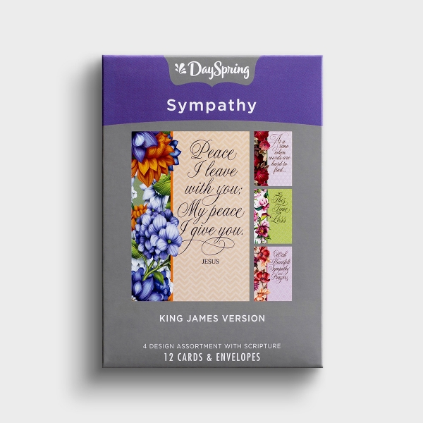 These soft, floral paneled Christian sympathy cards are a perfect way to encourage someone through a difficult time of loss.