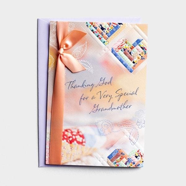 Mother's Day - Grandma - Cozy Quilt - 1 Premium Card, KJV