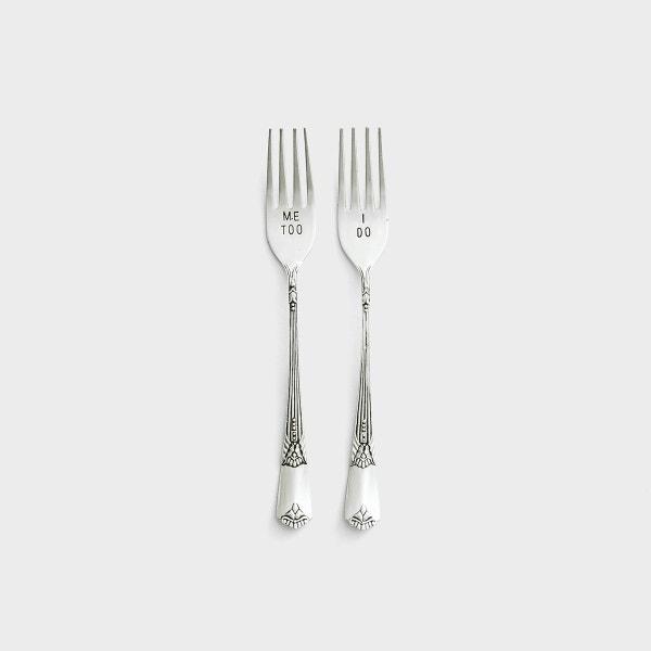 Mr. & Mrs. - Wedding Forks, Set of 2