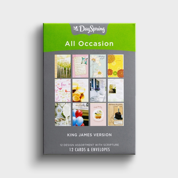All Occasion - KJV - 12 Boxed Cards, 12 Designs