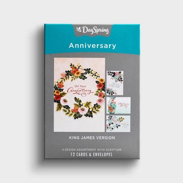 Anniversary - Celebrating Your Anniversary - 12 Boxed Cards, KJV