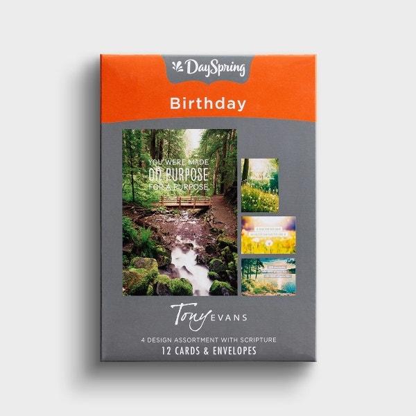 Tony Evans - Birthday - 12 Boxed Cards