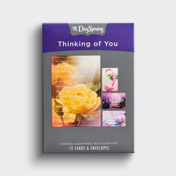 Thinking of You - Blessings on Your Day - 12 Boxed Cards