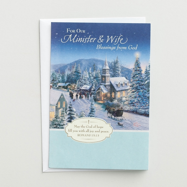 Christmas - Minister & Wife - Blessings - 1 Premium Card