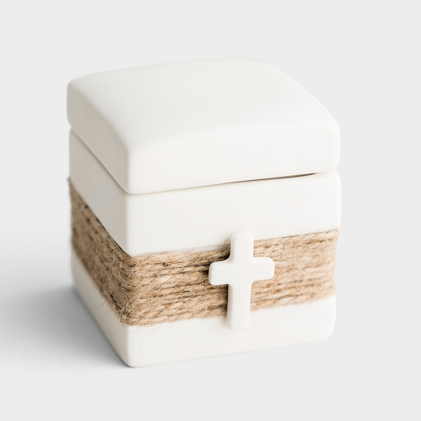 Treasure Keeper - Trinket Box with Cross Medallion