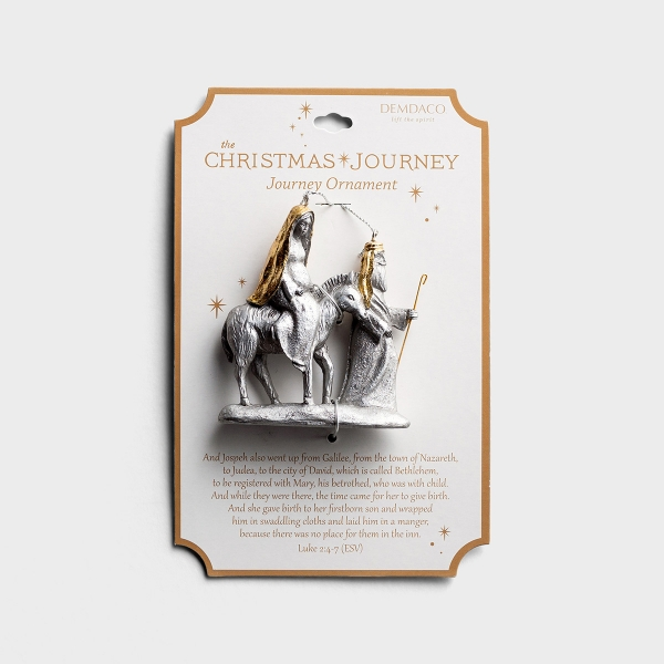 The Christmas Journey - Mary and Joseph Ornament