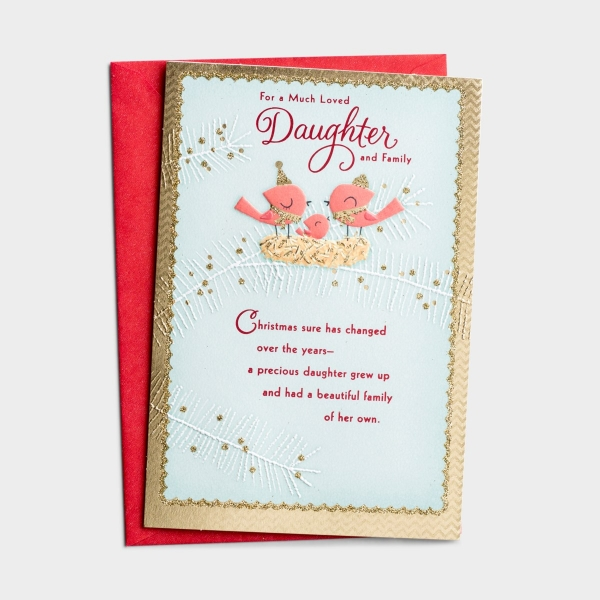 Christmas - Daughter & Family - 1 Premium Card
