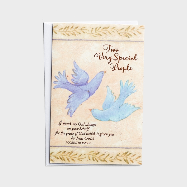 Ministry Appreciation - Two Very Special People - 1 Premium Card, KJV