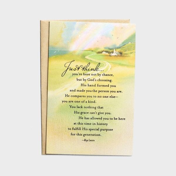 Ministry Appreciation - Just Think - Pastor - 1 Premium Card, KJV