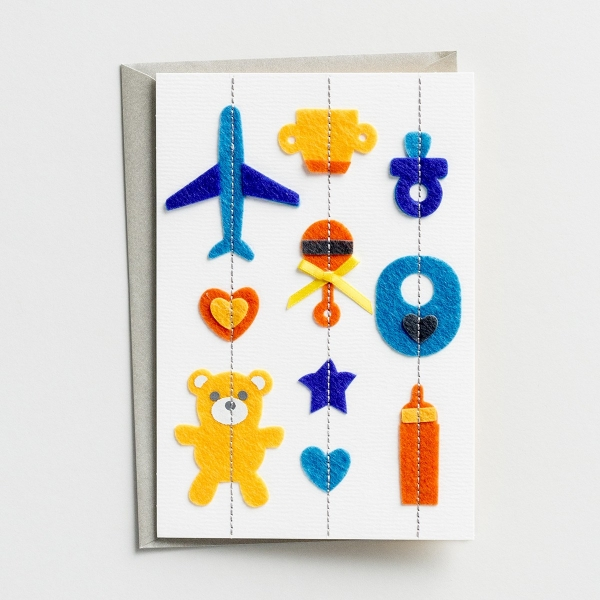 Baby - Boy - Let the Fun Begin - 2 Greeting Cards