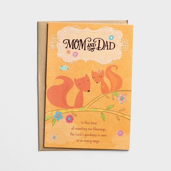 Thanksgiving - Mom and Dad - Counting Our Blessings - 1 Premium Card
