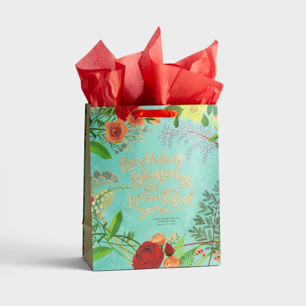 Birthday Blessings - Large Gift Bag with Tissue