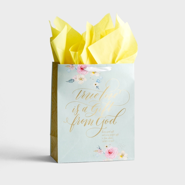 True Love Is a Gift - Large Gift Bag with Tissue