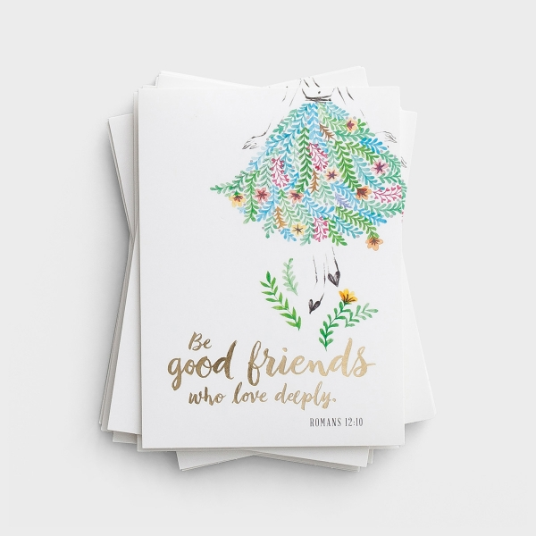 Be Good Friends - 10 Blank Note Cards