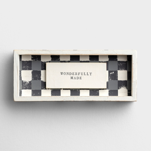 Wonderfully Made - Framed Wooden Board