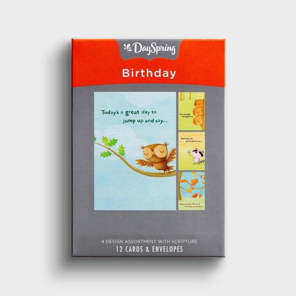 Birthday - Happy Critters - 12 Boxed Cards