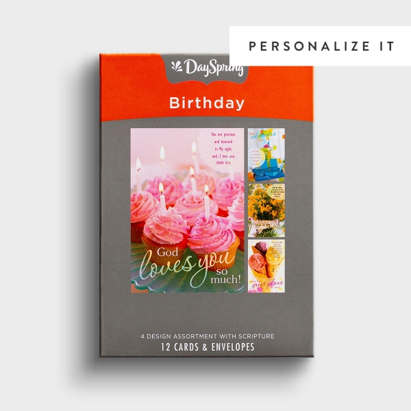 Birthday - Sweet Blessings - 12 Boxed Cards