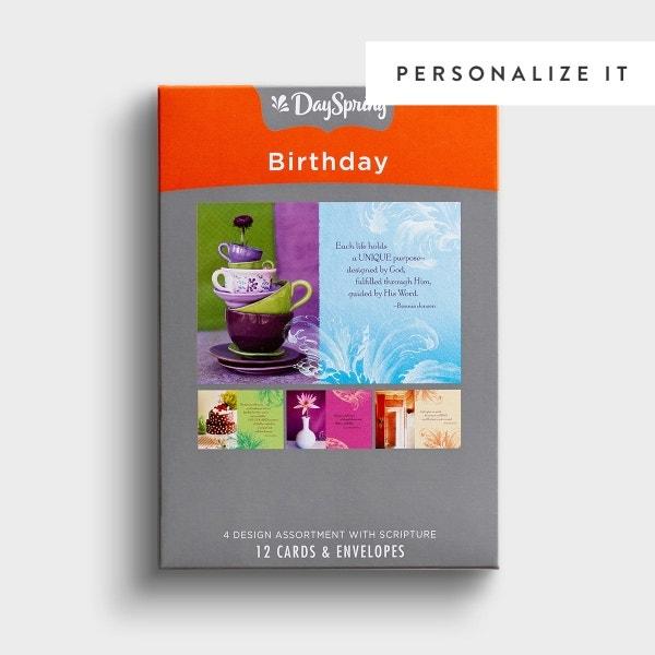 Birthday - Birthday Brights - 12 Boxed Cards