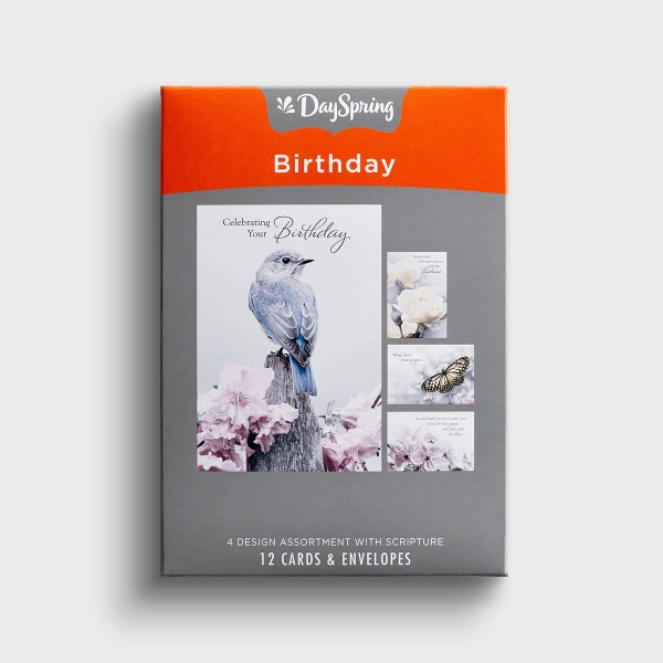 Birthday - A Touch of Color - 12 Boxed Cards, KJV