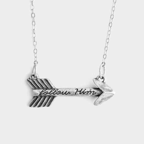 Follow Him - Arrow Pendant Necklace