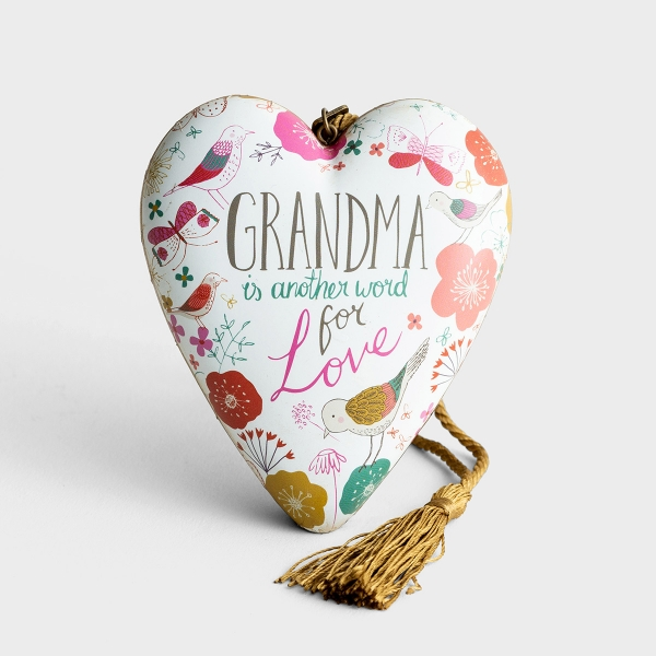 Grandma Is Another Word for Love - Art Heart Sculpture