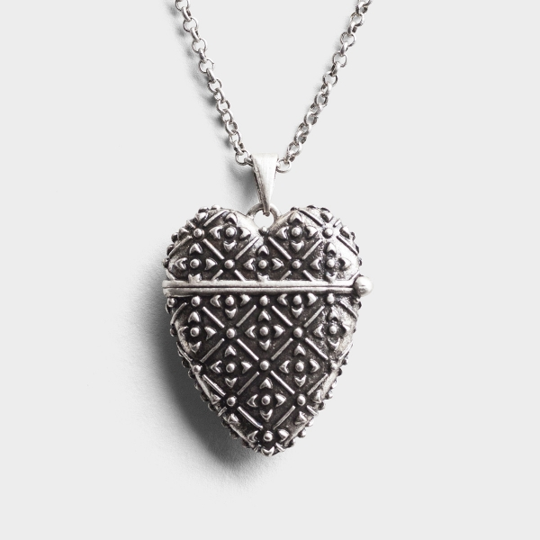 Forever in My Heart - Prayer Box Pendant Necklace
