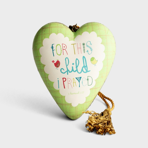 For This Child I Prayed - Art Heart Sculpture