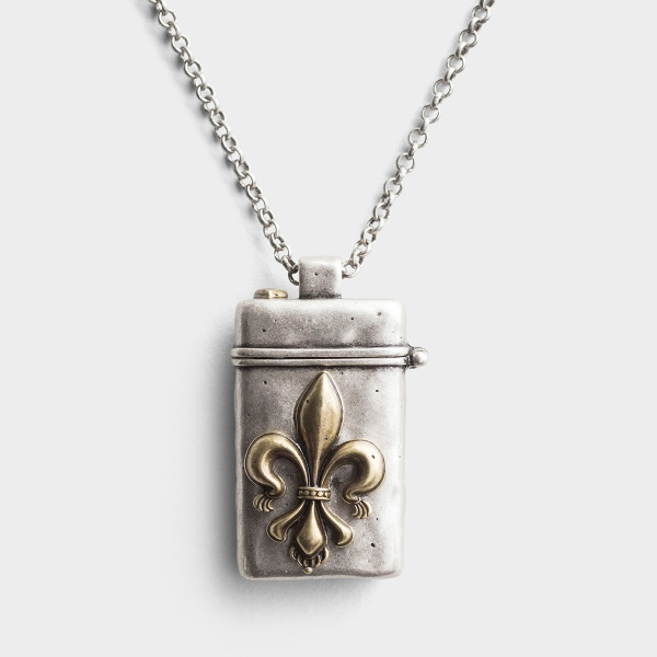 Be Strong and Courageous - Prayer Box Pendant Necklace