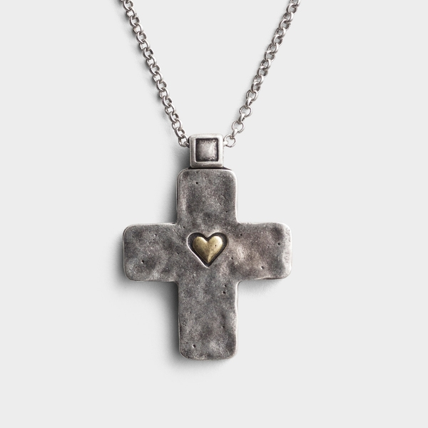Amazing Love - Cross Heart Pendant Necklace