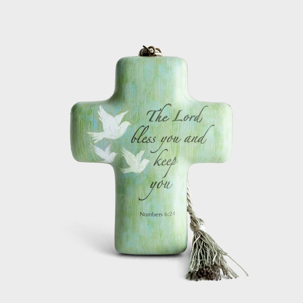 The Lord Bless You and Keep You - Artful Cross Sculpture