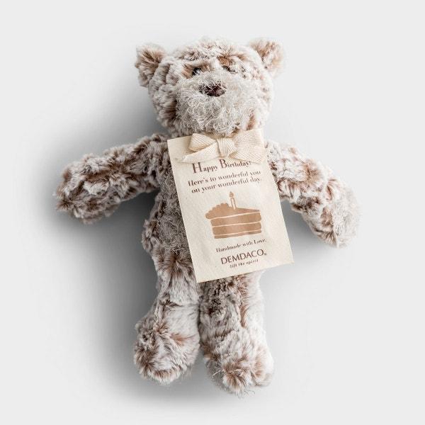 Happy Birthday - Mini Plush Giving Bear