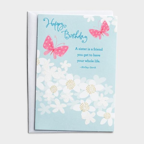 Holley Gerth - Birthday - Sister - 1 Premium Card