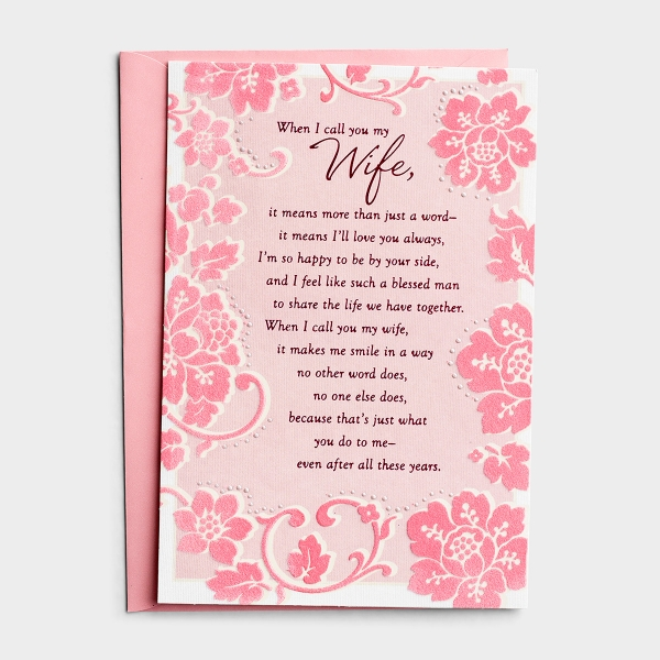 Birthday - Wife - More Than A Word - 1 Premium Card