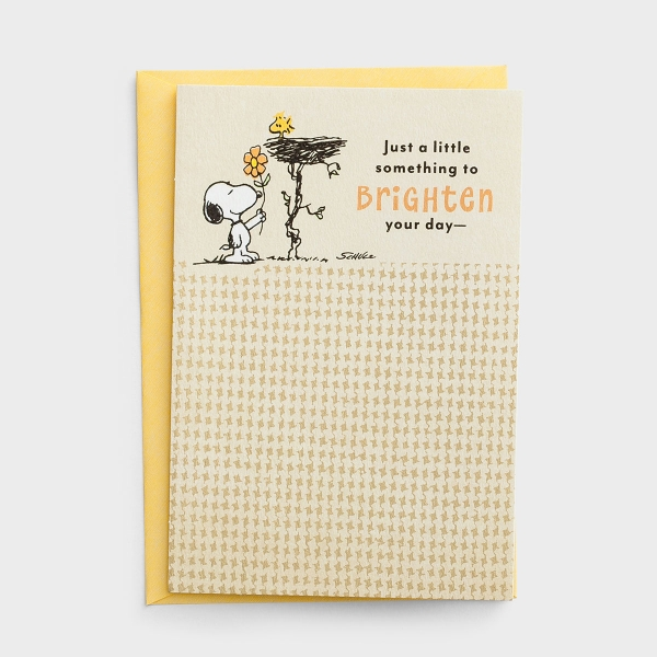 Peanuts - Get Well - Just a Little Something - 1 Premium Card