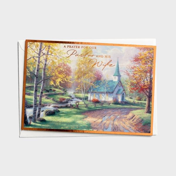 Thomas Kinkade - Ministry Appreciation - Pastor & Wife - 1 Premium Card
