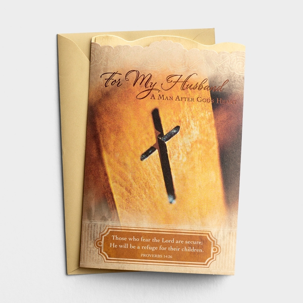 Father's Day - Husband - A Man After God's Heart - 1 Premium Card