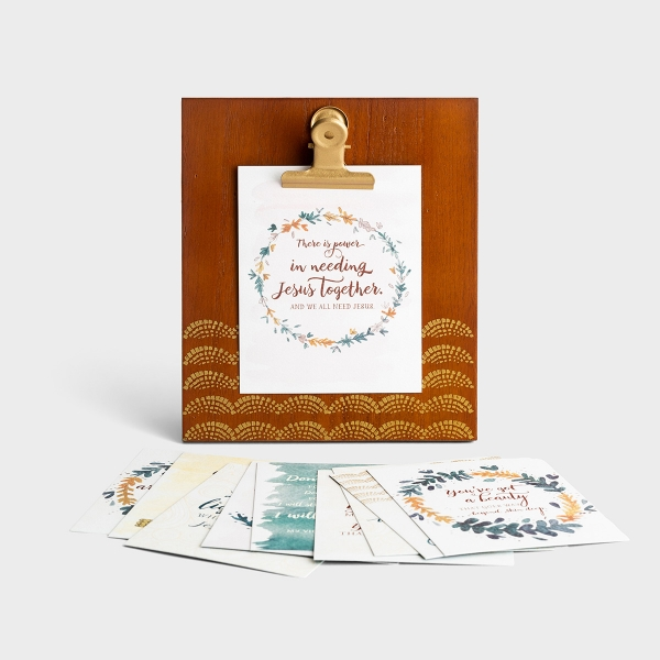 Inspirational Oak Finish Clip Frame & Art Print Set