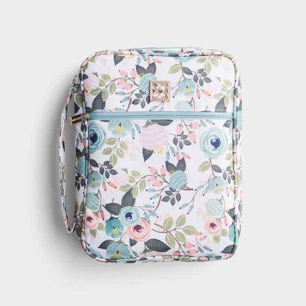 Floral Bible Cover - Peach