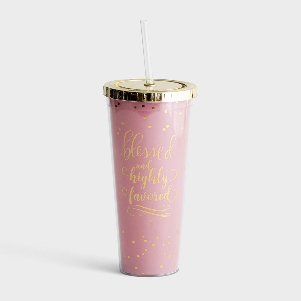 Blessed and Highly Favored - Insulated Straw Tumbler