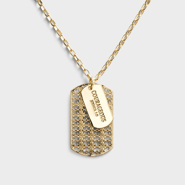 Courageous - 27 Inch Gold Identity Necklace