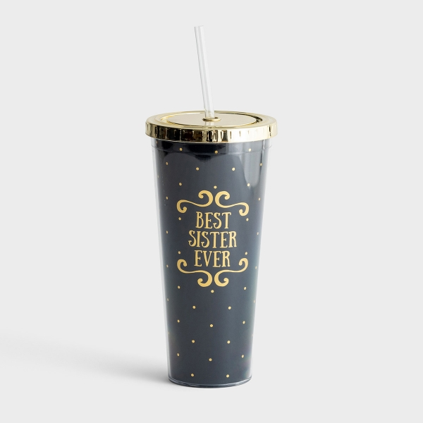 Best Sister Ever - Insulated Straw Tumbler