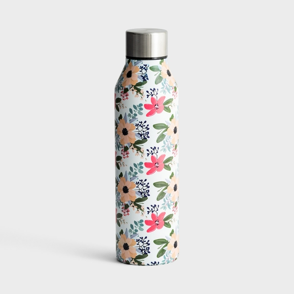 Floral Stainless Steel Water Bottle - Amelia