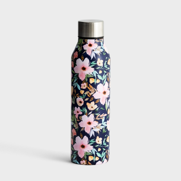 Floral Stainless Steel Water Bottle - Hampstead