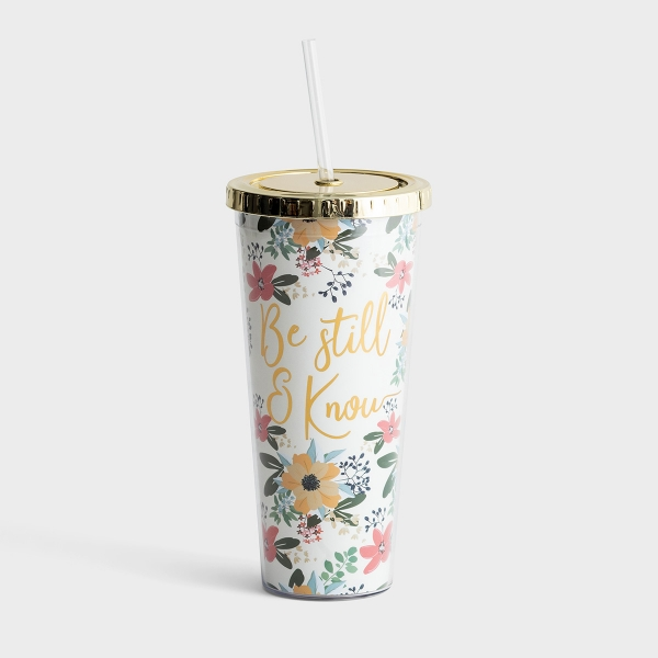 Be Still & Know - Insulated Straw Tumbler